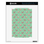 Minty Cupcake Pattern Decals For The NOOK