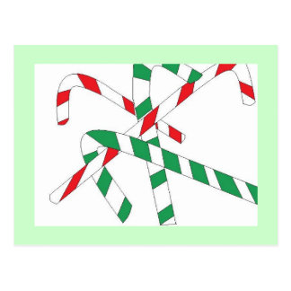 Minty Fresh Candy Canes Post Cards