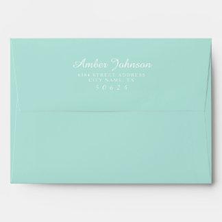 Minty Green 5 x 7 Pre-Addressed Envelopes