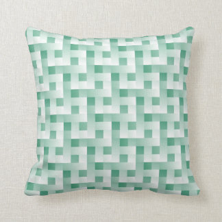 Minty Green Pattern Throw Pillows