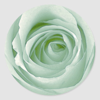 Minty Green Rose Thank You Sticker