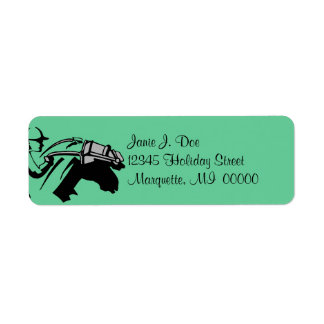 Minty Horse Racing & Jockey Return address Labels