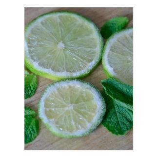 Minty Limes Postcard