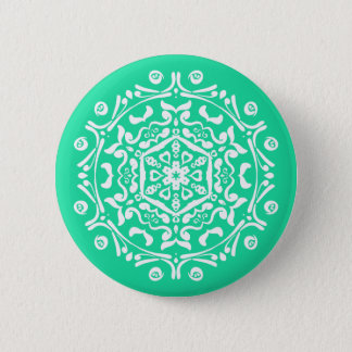 Minty Mandala Button