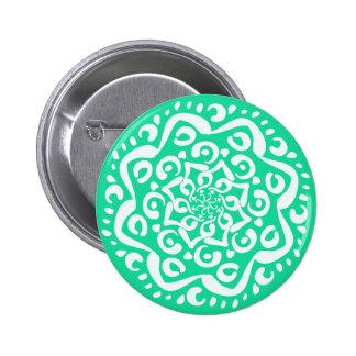 Minty Mandala Button