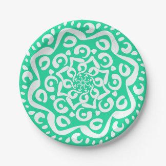 Minty Mandala Paper Plate