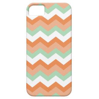 Minty Orange Chevron iPhone SE/5/5s Case