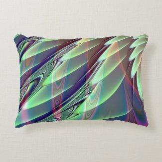Minty Pleasure Fractal Accent Pillow