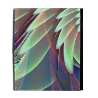 Minty Pleasure Fractal iPad Folio Cover