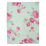 Minty Rose Duvet Cover Twin Size