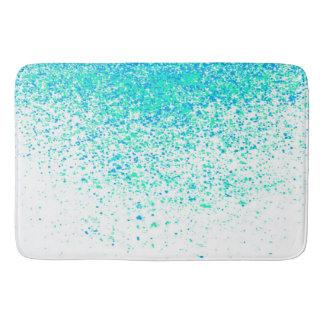 minty sparkle bathroom mat