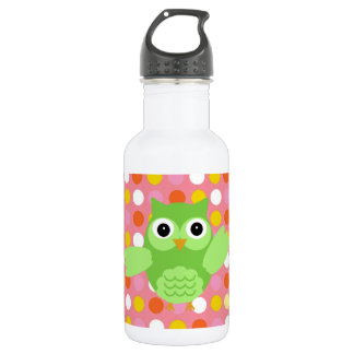 Minty the Adorable Owl 18oz Water Bottle
