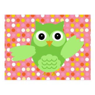 Minty the Adorable Owl Postcard
