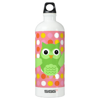 Minty the Adorable Owl Water Bottle