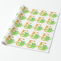 Minty the Owl 5 Years Old Wrapping Paper