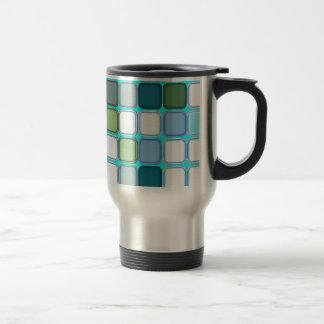 Minty tiles travel mug