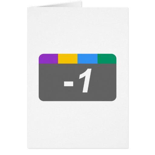 Minus 1 greeting card