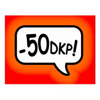 Minus 50 DKP! Postcards