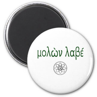 Minúscula de Molon Labe (venido y tómelos) Imán Redondo 5 Cm