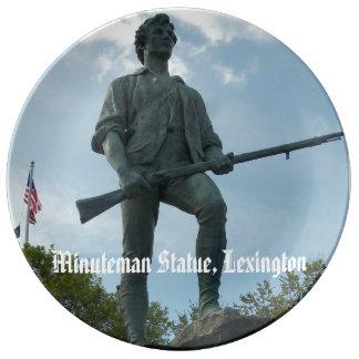 Minute Man Statue Lexington Massachusetts Porcelain Plate