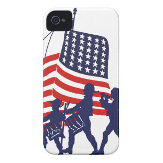 Minute Men and American Flag Case-Mate iPhone 4 Case