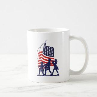 Minute Men and American Flag Mug