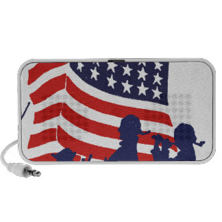 Minute Men and American Flag PC Speakers
