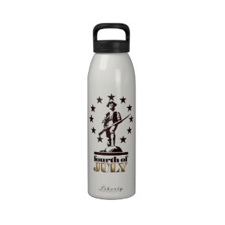 Minuteman 4 de julio de 1776 botella de beber