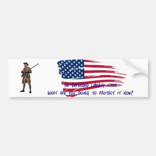 Minuteman Bumper Sticker