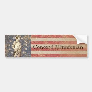 Minuteman de la concordia pegatina para auto