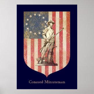 Minuteman de la concordia poster