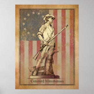 Minuteman de la concordia póster