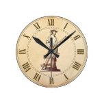 Minuteman de la concordia reloj redondo mediano