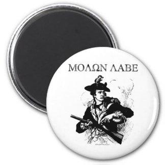 Minuteman de Molon Labe Imán Redondo 5 Cm