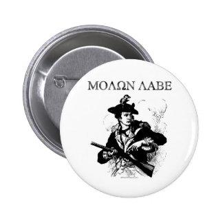 Minuteman de Molon Labe Pin Redondo De 2 Pulgadas
