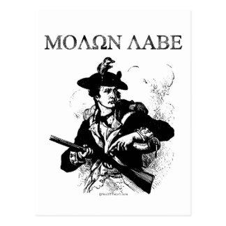 Minuteman de Molon Labe Tarjetas Postales
