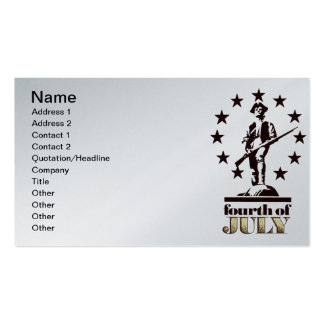 Minuteman July 4th 1776 Business Card