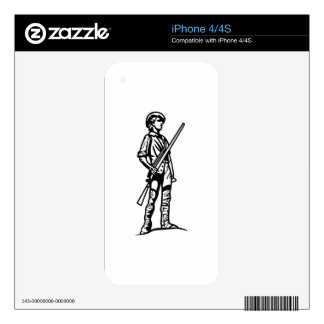 Minuteman Outline Skin For The iPhone 4S