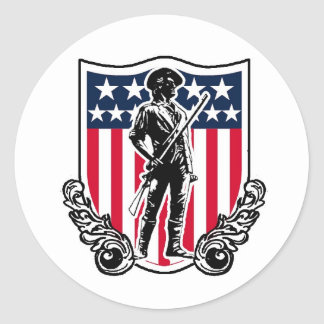Minuteman Shield Sticker