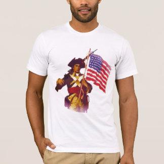 MINUTEMAN WITH FLAG T-Shirt