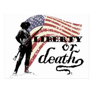 Minutemen de la libertad o de la muerte tarjetas postales