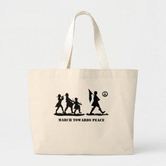 Minutemen Marching Silhouette Patriotic Tote Bag