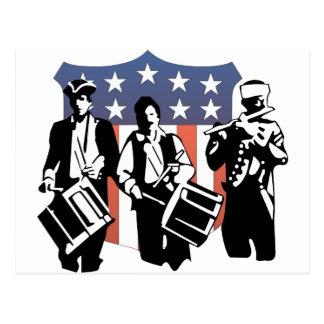 Minutemen y el escudo americano