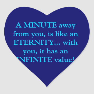minute's value heart sticker