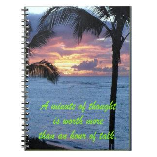 Minuto del cuaderno del pensamiento