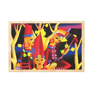 Minuto del Lu que viste la bella arte de oriental  Lienzo Envuelto Para Galerías