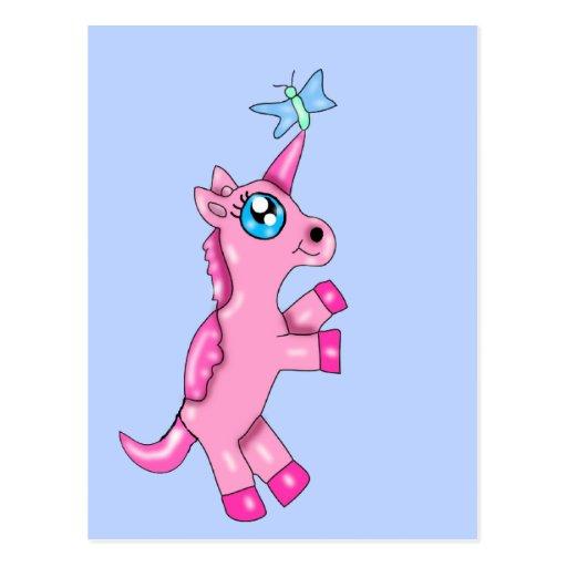 Minxi el unicornio postales