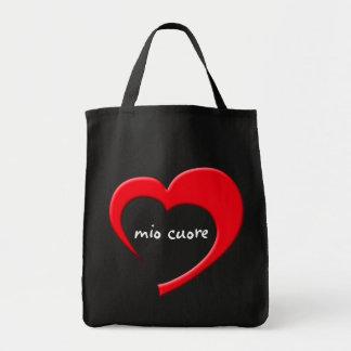 Mio Cuore II Bag (red on dark bag)