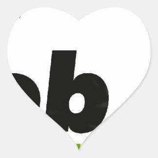 MIob Logo Merchandise Heart Sticker