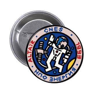 Mir-Altair Mission Patch Logo Button